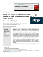 Design and analysis of annular combustion chamber of a low bypass turbofan engine in a jet trainer aircraft.pdf