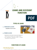 Loans and Discount Function