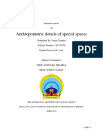 Dissertation on Anthropometry of special spaces