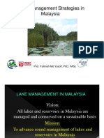 3 Strategies in Lake Mgt in Msia