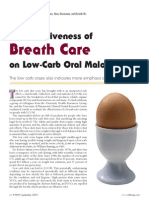 Oral Malodor and Low Carb Article
