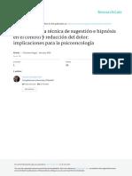 Sugestión, Hipnosis y Tratamiento Del Dolor en Oncoología