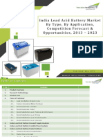 India Lead Acid Battery Market Forecast and Opportunities, 2023_Brochure
