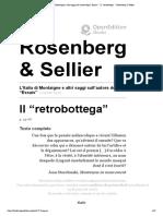 """Il """"Retrobottega"""" - l'Italia Di Montaigne e Altri Saggi Sull'Autore Degli """"Essais"""" - Lionello Sozzi"""