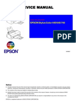 Epson Stylus Color 440 + 640 + 740 Service Manual