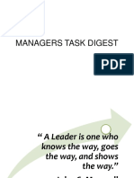 MANAGERS TASK