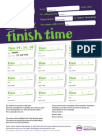 Finish Time Sweepstake Poster A4 2018