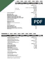PERKINS 4 - 203 - 4PA - 203 - 6PF - 305 - 6PA - 305