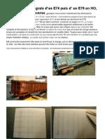 Modélisme ferroviaire à l'échelle HO. Wagons E 78 Et 74; construction integrale. Par Hervé Leclère