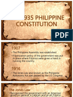 The 1935 Philippine Constitution