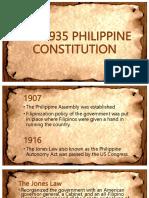 The 1935 Philippine Constitution