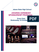 Awards Ceremony Sponsorship Proposal