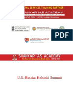 U.S,Russia:Helsinki Summit daily current affairs question and answers 18 July