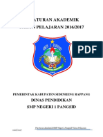 Peraturan Akademik SMP N 1 PAngsid 20162017