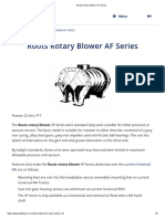 Roots Rotary Blower AF Series