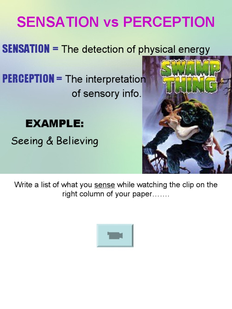 sensation versus perception