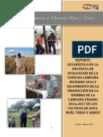 Encuesta de Seguimiento Producción Verano 2016-2017, Granos