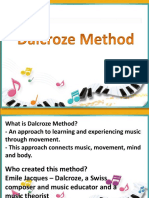 Methodology Report - Dalcroze