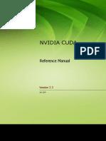 Cuda Reference Manual