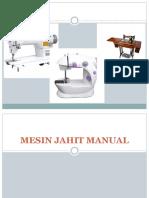 Mesin Jahit Manual