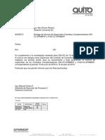 Entrega Informe de Supervisión Contratos Complementarios Memorando