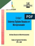 Unidad 1 Sistemas Basados en Microprocesadores SBM UAM