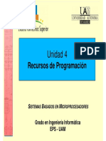 Unidad 4 Sistemas Basados en Microprocesadores SBM UAM