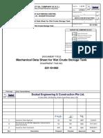 API Data Sheet _Wet Crude Storage Tank