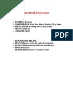 Diario de Practicas (1) 29 de Mayo
