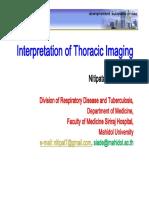 Interpretation of Thoracic-imaging