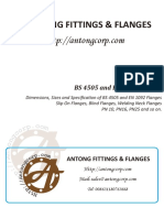 Dimensions, Sizes and Specification of BS 4505 and en 1092 Flanges