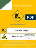 Riesgos y Medidas de Prevención Sector Mantenimiento
