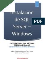 Instalación de SQL Server Windows - Nicolas Hidalgo