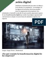Transformación digital en la empresa | ¿Qué es la transformación digital?