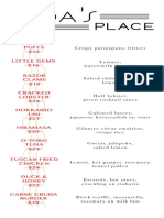 Ada's Place Menu