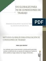 Metodos Globales Para Evaluación de Condiciones de Trabajo