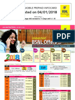 Bsnl Kerala Gsm Prepaid - Jan 2018