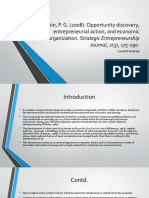 "Review of ""Opportunity Discovery, Entrepreneurial Action, and Economic Organization"""