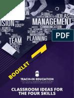 Booklet Teach in Education Classroom Ideas for the Four Skill