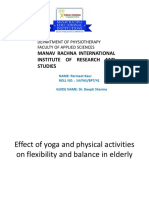 Effect of Yoga and Physical Activities on Flexibility