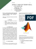 Perimetreo y Area Matlab