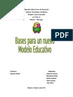 Bases Para Un Nuevo Modelo Educativo