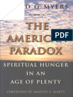 Myers DG - The American Paradox - Spiritual Hunger in an Age of Plenty
