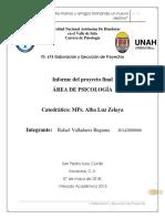 Informe Proyecto Final. Ejecución y Elaboración de Proyectos.