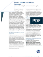 HP IT Consolidation With HP and VMware for the Midmarket Solution Brief 4AA2-1253ENW