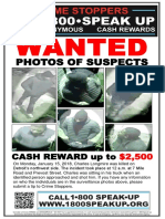 Charles Longmire Crime Stoppers poster