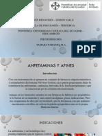 Farmacología - Anfetaminas