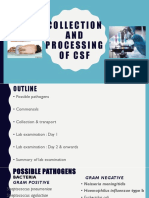Collection and Processing of Csf