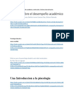 Bibliografía Sobre Desempeño Académico