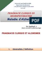 Traitement de La Maladie d Alzheimer 2017-2018